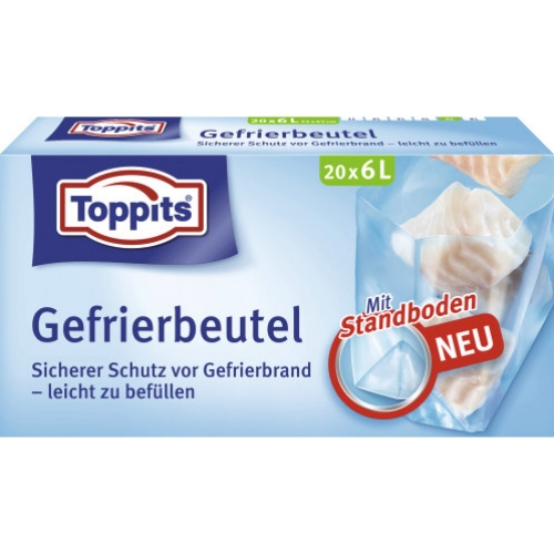 Toppits Gefrierbeutel Normal 6 Liter