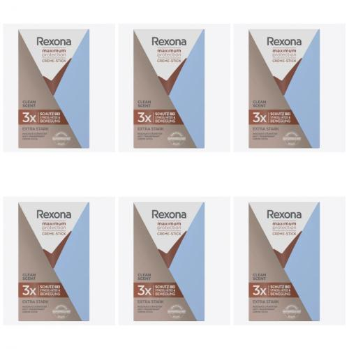 6 x Rexona Deocreme Maximum 45 ml