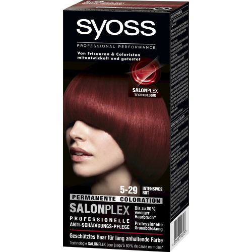 Syoss Haarfarbe Permanente Coloration Stufe 3 5_29 Intensives Rot 115ml
