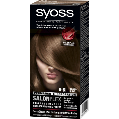 Syoss Haarfarbe Permanente Coloration Dunkelblond 6-8 115ml