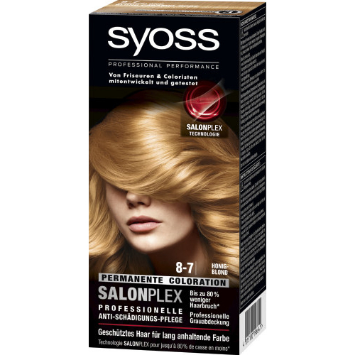 Syoss Haarfarbe Permanente Coloration 8-7 Farbe: Honigblond 115ml